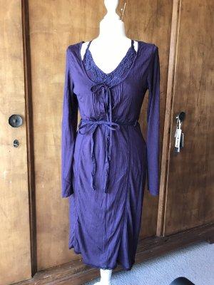 2 teiliges Jersey Kleid von linea Tesini, mit Spitze, Chabby, Gr 38/40