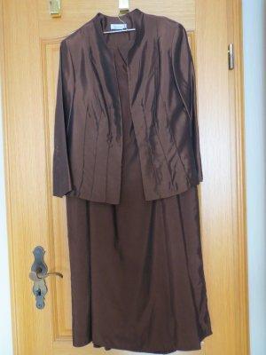2-teiliges Kostüm, Rock und Blazer, Gr.42/M, braun