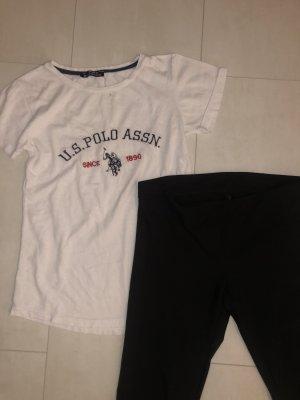 T-Shirt white-black