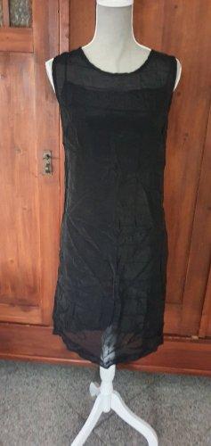 2. teiliges schwarzes Chiffonkleid von Stefanel Gr. S