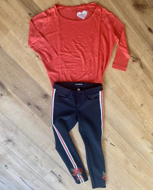 Cambio Jegging noir-rouge