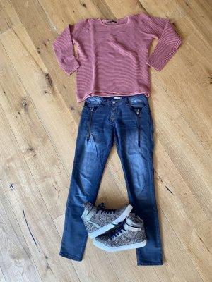 2-tlg. Kombi Jeans & Strickpullover Gr. S