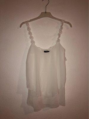 C&A Clockhouse Silk Top white-black