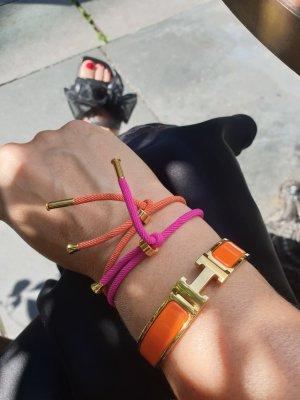 Bracelet dark orange-pink