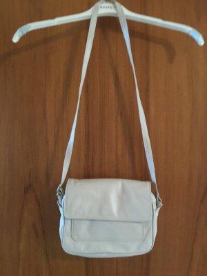 2 VINTAGE Leder Handtaschen - Original aus den 60er Jahren - braun und weiß - so gut wie neu, waren jahrelang eingepackt - VINTAGE