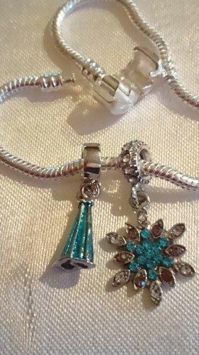 2 Wunderschöne Anhänger Charms / Beads für Pandora Swarovski, DKNY