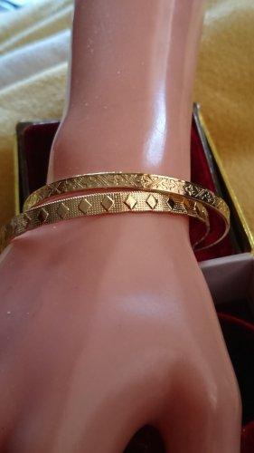 2 x Armband goldener Edelmetall Armreifen