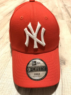 New Era Baseball Cap white-red