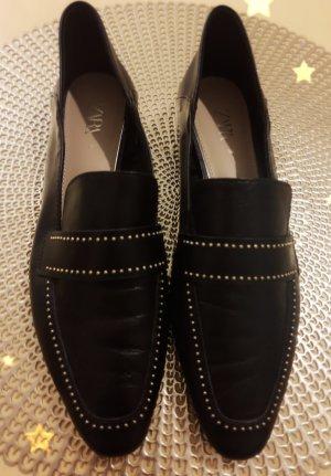 -20 % heute Leder Schuhe von Zara Gr 38 wie NEU