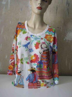 Design Mesh-Shirt von Basset - bunter Muster Print Look