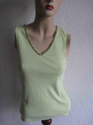 Top von Oui moments in mintgrün, mit Perlenstickerei - casual Look