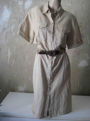 -20% Sommersale bis zum 30.6. - 11,60 anstatt 14,50 - Blusenkleid mit Gürtel in beige - casual Look