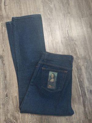 Vintage Jeans bootcut bleu-bleu foncé coton