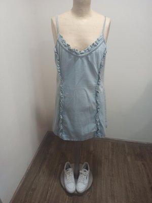 Vintage Jeansowa sukienka Wielokolorowy