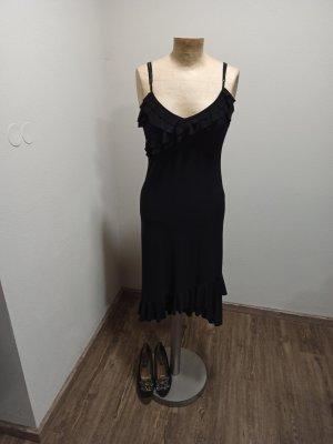 Vintage Sukienka z falbanami czarny