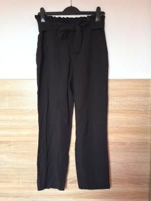 20032722 Schwarze lange Business Hose, Paperbag von Zara, Gr. S