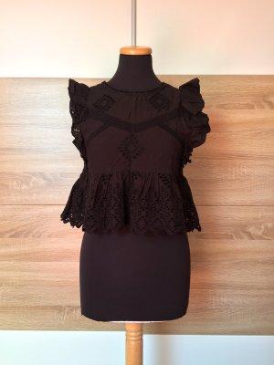 Zara Blusa senza maniche nero Cotone