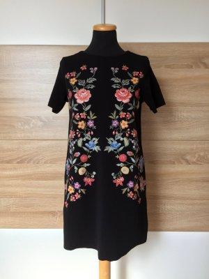 20062816 Schwarzes Blumen Shirtkleid von Zara, Gr. S (NEU)