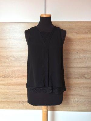20062819 Schwarze Spitzen Bluse, Top von Zara, Gr. XS (NEU)