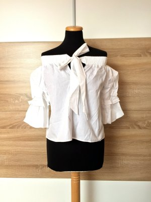 Zara Carmen Blouse white mixture fibre