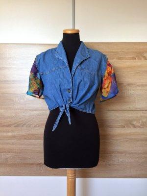 20072507 True Vintage Jeans Bluse zum Binden, Gr. M (NEUw.)