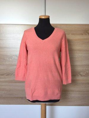 20080912 Lachs rosa Strick Pullover, Sweater von Hilfiger, Gr. M (NEUw.)
