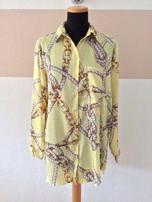 20110111 Gelbe Seile Ketten Bluse von Zara, Gr. M (NEUw.)