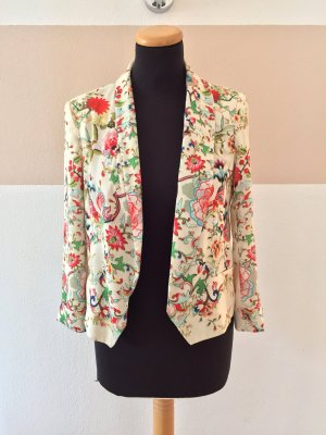 20110115 Beige nude Blumen Blusen Blazer von Zara, Gr. S