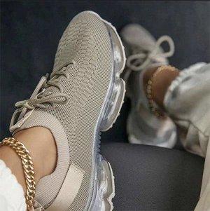 Sneaker stringata crema