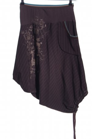 2026 Asymmetry Skirt brown-natural white abstract pattern street-fashion look