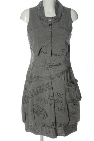 2026 Sukienka midi jasnoszary Wydrukowane logo W stylu casual