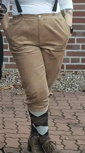 Pantalon en velours côtelé marron clair