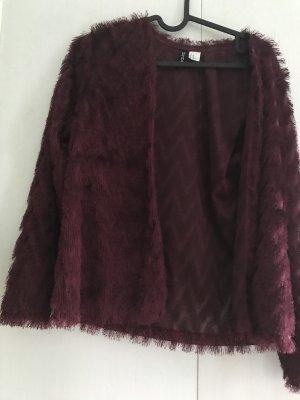 H&M Marynarka koszulowa bordo