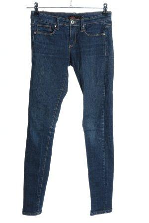 21 Jeansy biodrówki niebieski W stylu casual