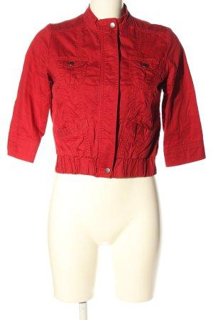 21 Krótka kurtka czerwony W stylu casual