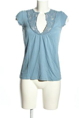 21 T-shirt niebieski W stylu casual