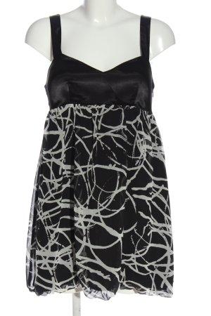 Forever 21 Top met spaghettibandjes zwart-lichtgrijs abstract patroon elegant