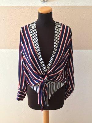 Zara Blusa tipo body multicolor tejido mezclado