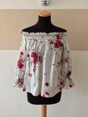 Zara Blouse Carmen multicolore coton