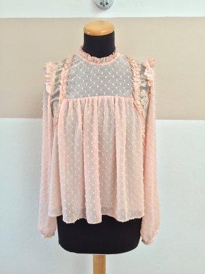 21050705 Rosa Rüsch Blumen Bluse von Zara, Gr. M (NEU)