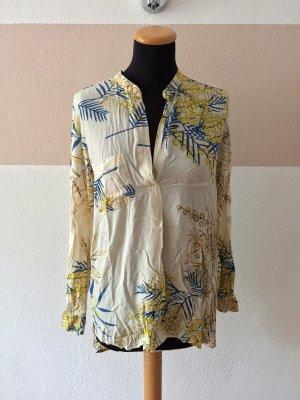 21052205 Creme nude Botanic Blumen Bluse von Zara, Gr. S