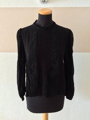 21052810 Schwarze Basic Bluse von Zara, Gr. M