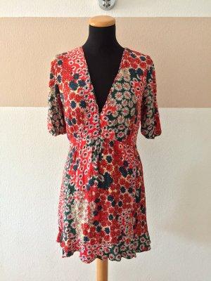 21072703 Buntes Blumen Kleid von Zara, Gr. L (NEUw.)