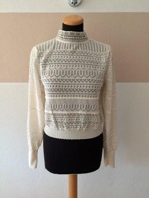 21101303 Weiße Spitzen Bluse von Zara, Gr. M (NEUw.)