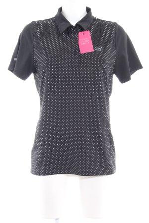 2117 of Sweden T-shirt de sport noir-blanc motif de tache Aspect de néoprène