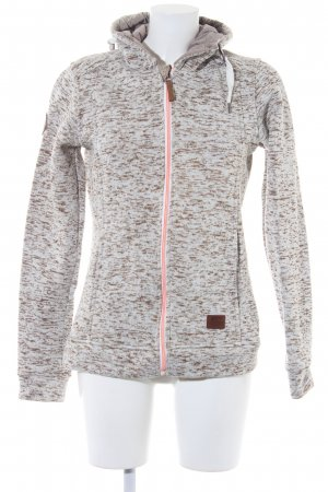 2117 of Sweden Sweat Shirt natural white-olive green flecked casual look