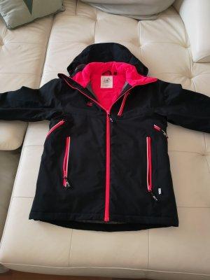 2117 of Sweden Winter Jacket black-raspberry-red
