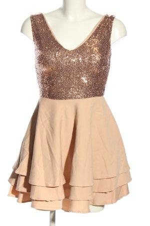 212 Chique Vestido de lentejuelas color oro-nude elegante