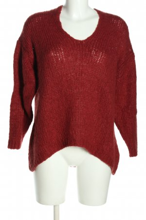 24 colours Coarse Knitted Sweater red casual look