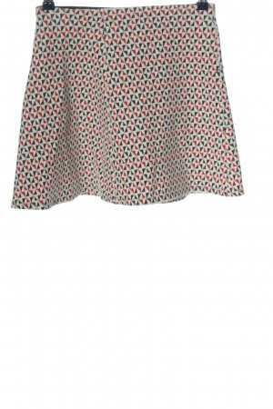 24 colours Miniskirt black-red allover print casual look